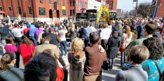 Streetcar Groundbreaking crowd