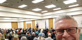 At Ralph Shortey's last town hall