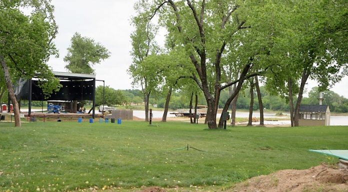 Stage and lake at lost lakes