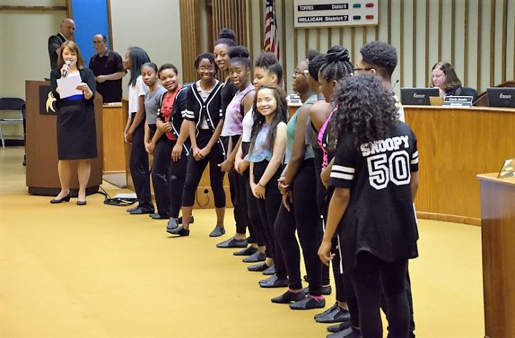 Fusion troupe at the OKCPS Bd of Ed
