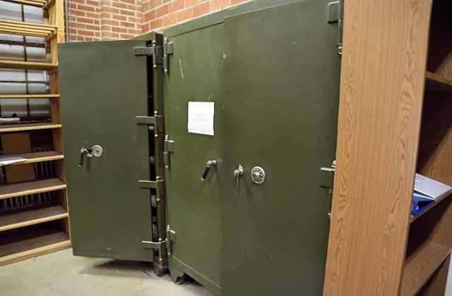 Two safes - financial records rooms