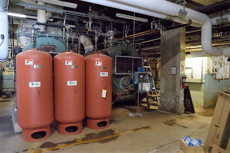 Boilers in the basement
