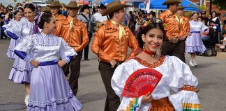 Dancers in the Parade of the Americas