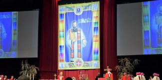 Official tapestry of Blessed Stanley Francis Rother