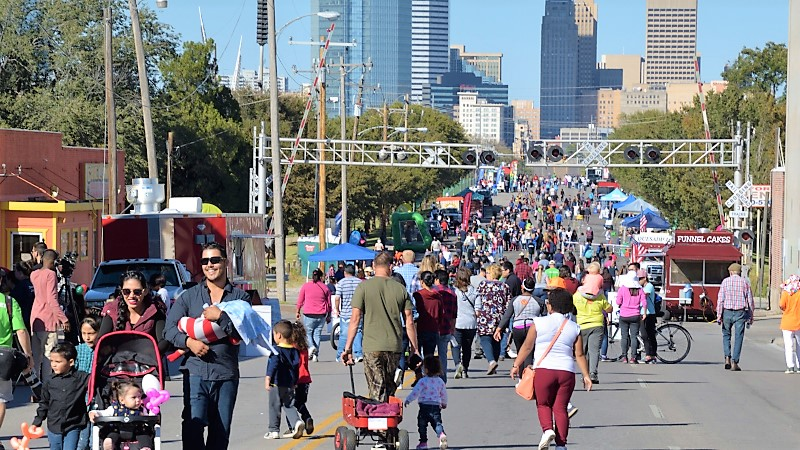 Open Streets OKC 2017 looking north toward downtown