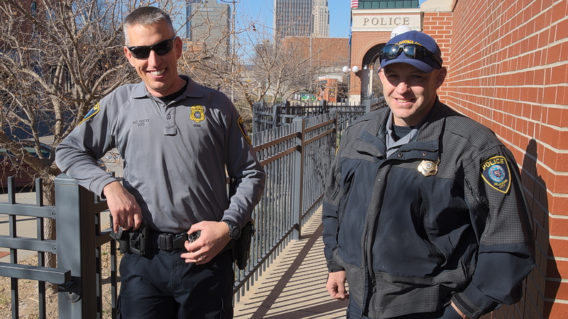 Homeless Outreach Team in front of Bricktown substation