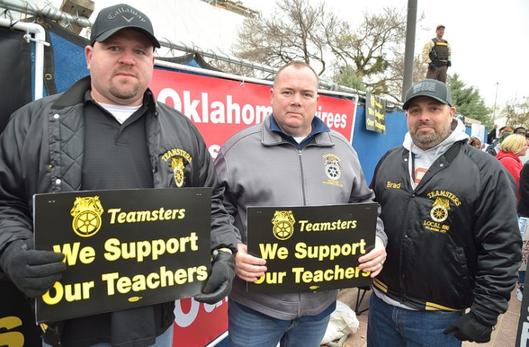 First day teacher walkout 2018 Teamster leadership