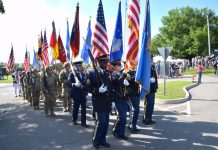 Memorial Day Ceremony 45th Inf Museum 2018 - massing of colors diversity