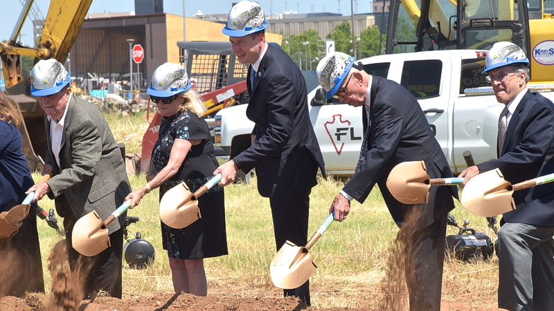 Mayor David Holt breaks ground on Convention Center project