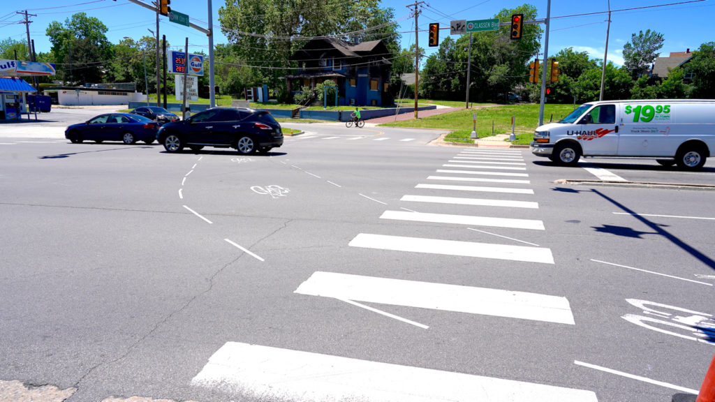 bike lane demonstration intersections