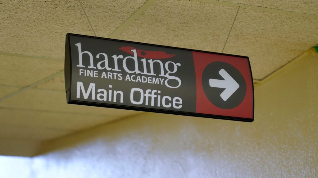 Harding office sign